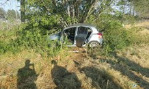 Rear-end collision leaves woman seriously injured.